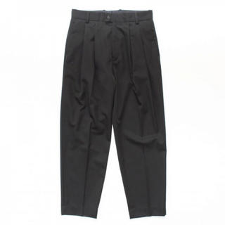20SS stein WIDE TAPERED TROUSERS_A BLACK
