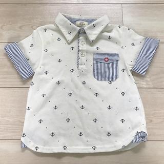 ikka - 【シミあり】キッズ 120 子供服 おしゃれ イカリ 襟つきTシャツ 白