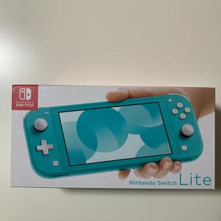 ニンテンドースイッチ(Nintendo Switch)の新品 未開封 Nintendo Switch  Lite ターコイズ(家庭用ゲーム機本体)