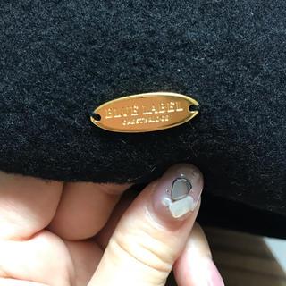バーバリーブルーレーベル(BURBERRY BLUE LABEL)のブルーレーベルクレストブリッジ ベレー帽 ブラック 黒(ハンチング/ベレー帽)