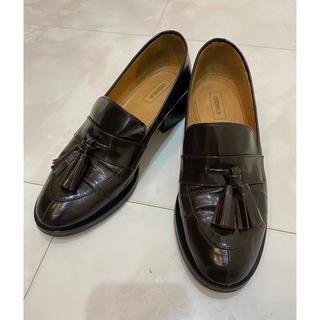 CHEMBUR タッセル ローファー ブラウン 35(ローファー/革靴)