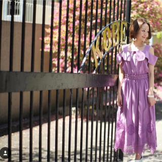 Chesty - akiki purple cotton dress