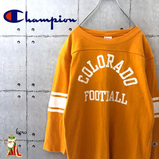 チャンピオン(Champion)の【人気】チャンピオン フットボール 七分袖 Tシャツ(Tシャツ/カットソー(七分/長袖))