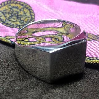 印台 シルバー925リング シグネット スクエア ギフト 四角 銀指輪シンプル(リング(指輪))