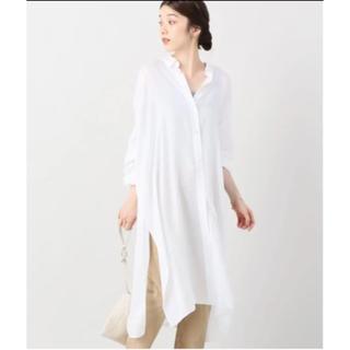 Plage - plage ロングシャツ ワンピース ホワイト