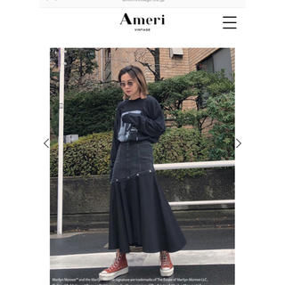 Ameri VINTAGE - 完売 (Ameri)FLOWING LINE DENIM SKIRT