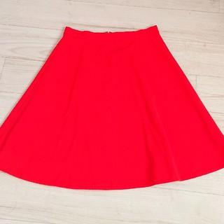 Demi-Luxe BEAMS - 美品 Demi-luxe beams 赤 36 フレアスカート