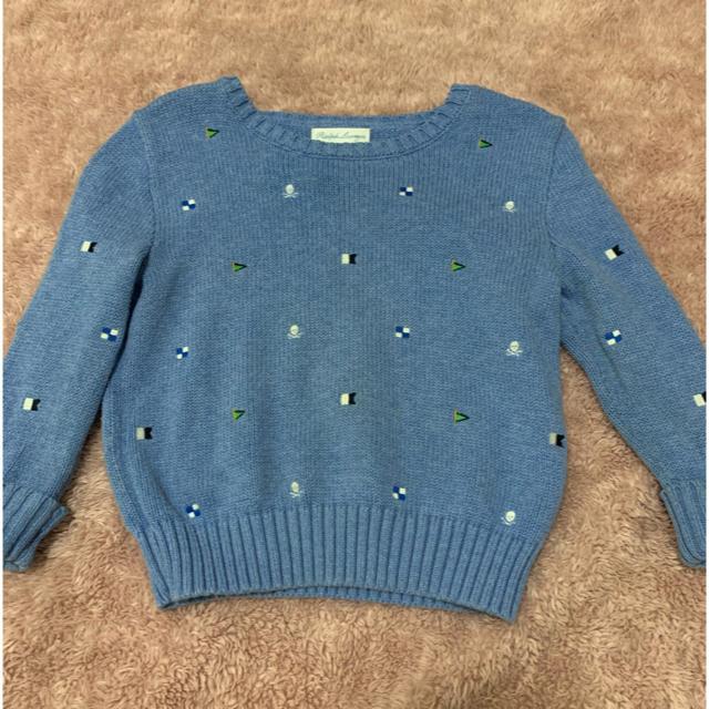 Ralph Lauren(ラルフローレン)のラルフローレン 刺繍入りセーター 24M、90センチ キッズ/ベビー/マタニティのキッズ服男の子用(90cm~)(ニット)の商品写真