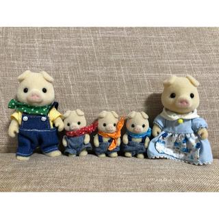 エポック(EPOCH)のシルバニアファミリー ブタ ファミリー 人形 シルバニア(ぬいぐるみ/人形)
