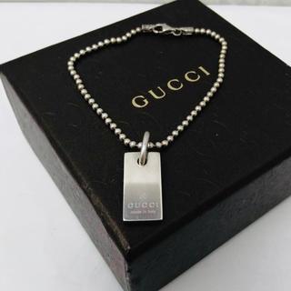 Gucci - ☆特別価格☆ GUCCI チャーム プレート ブレスレット シルバー