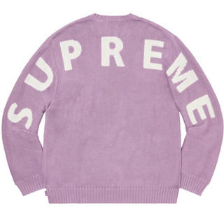 Supreme - supreme back logo sweater lilac  r66様 専用