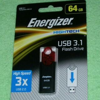 エナジャイザー USB3.0対応 USBメモリ 64GB 赤と黒