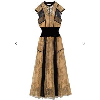 snidel - 新品 スナイデル スイッチングレースドレス