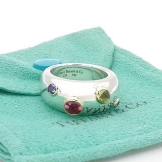 ティファニー(Tiffany & Co.)の極希少 ティファニー マルチ ドッツ コンビ 4ストーン リング FB57(リング(指輪))