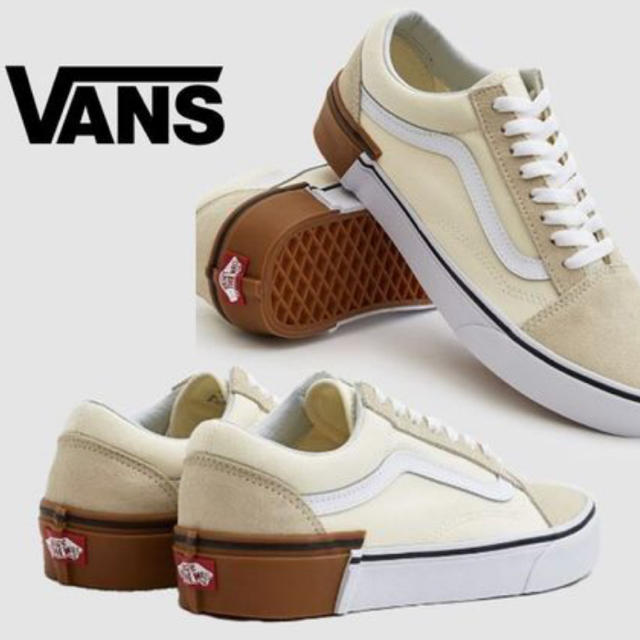 VANS(ヴァンズ)のvans oldskool スニーカー ガムブロック ホワイト レディースの靴/シューズ(スニーカー)の商品写真