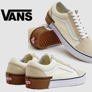 VANS - vans oldskool スニーカー ガムブロック ホワイト