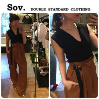 DOUBLE STANDARD CLOTHING - VERY,DOMANI掲載 新品 SOV. ノースリーブトップス 定価14300