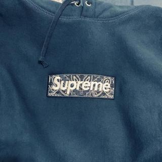 Supreme - supreme box logo パーカー ネイビー Mサイズ
