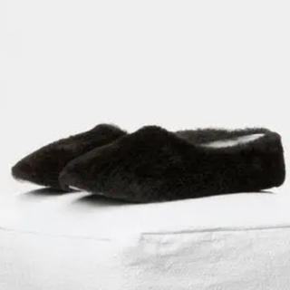 セリーヌ(celine)のセリーヌ  コージー スリッパ フラットシューズ ブラック 36 美品(バレエシューズ)