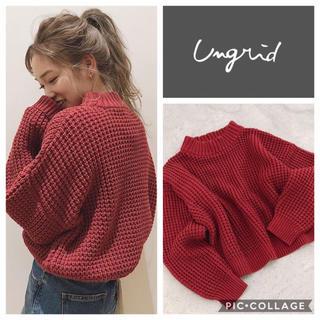 Ungrid - Ungrid**ワッフルデザインニット
