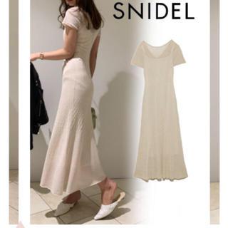 snidel - 新品 スナイデル クロシェニットワンピース