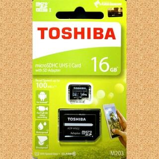 トウシバ(東芝)の東芝 microSDカード SDカード 16GB(PC周辺機器)
