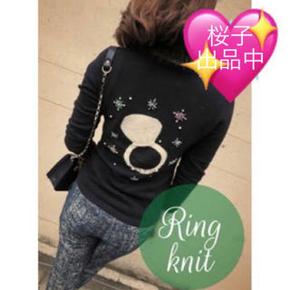 Chesty - chesty リング カシミヤ ニット チェスティ ビジュー パール 刺繍 指輪