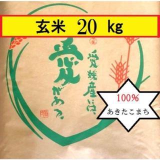 お米 令和元年 愛媛県産あきたこまち 玄米 20㎏