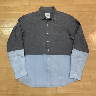 ユニフォームエクスペリメント(uniform experiment)のユニフォームエクスペリメント 切替シャツ 長袖 ツートン 2 送料込 日本製(シャツ)