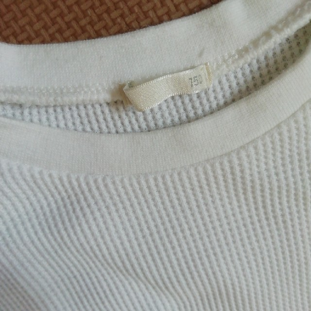 GU(ジーユー)のGU150ワッフルワンピース二枚セット値下げ!! キッズ/ベビー/マタニティのキッズ服男の子用(90cm~)(Tシャツ/カットソー)の商品写真