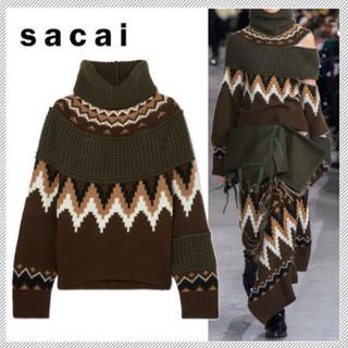 sacai - 新品 未使用 ★sacai サカイ★2019-2020AW♡プルオーバー ニット