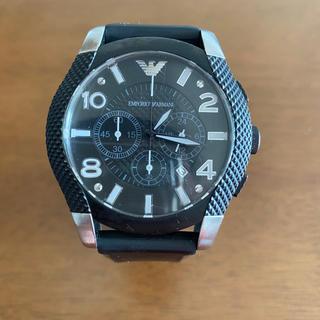 エンポリオアルマーニ(Emporio Armani)のアルマーニ 腕時計 ブラック(腕時計(アナログ))