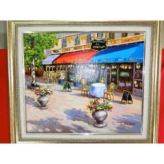 【お薦め】折田忠真筆(パリのレストラン)10号(絵画/タペストリー)