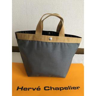 エルベシャプリエ(Herve Chapelier)の美品 エルベシャプリエ 707コーデュラ  フュズィ ゴールド Mサイズ(トートバッグ)