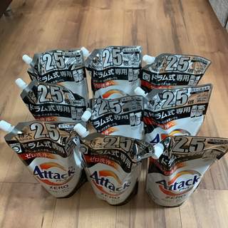 カオウ(花王)のアタックZERO 洗濯洗剤 ドラム式専用 詰め替え大サイズ (860g*9コ入)(洗剤/柔軟剤)