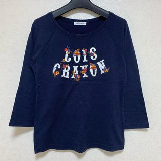 ロイスクレヨン(Lois CRAYON)のロイスクレヨン  ロゴ刺繍七分袖カットソー(カットソー(長袖/七分))