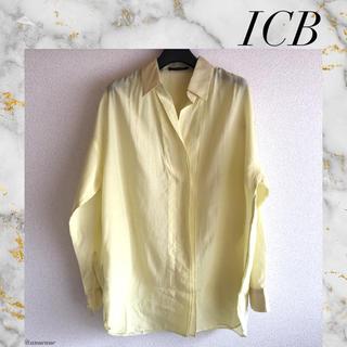 ICB - ICB オンワード樫山 春色 コットン シルク シャツ ブラウス トップス 通勤