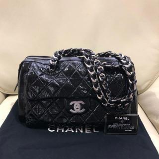 CHANEL - 美品 シャネル 正規品 マトラッセ パテントレザー エナメル チェーン バッグ