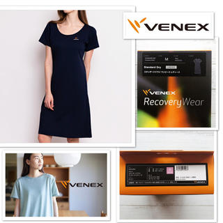 Wacoal - 【新品】VENEX  リカバリーウェア ワンピース ネイビーM