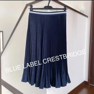 ブラックレーベルクレストブリッジ(BLACK LABEL CRESTBRIDGE)の未使用☆ ブルーレーベルクレストブリッジ プリーツスカート(ひざ丈スカート)