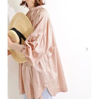 IENA - IENA LA BOUCLE コーマサテン スモックシャツ◆ピンク