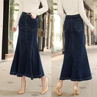 デニムロングスカート デニムスカート 大きいサイズ(ロングスカート)