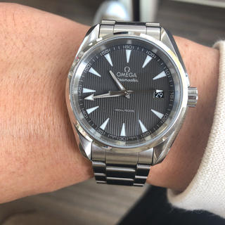 オメガ(OMEGA)のOMEGA オメガ 腕時計 シーマスター アクアテラ 38.5MM デイト(腕時計(アナログ))