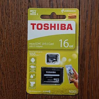 トウシバ(東芝)の東芝 TOSHIBA microSDHC 16GB / microSDカード(PC周辺機器)