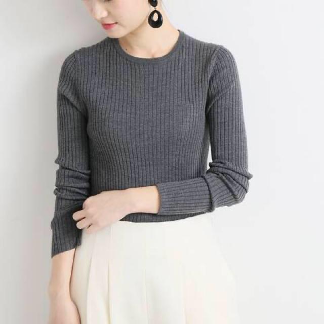 IENA(イエナ)のVERMEIL par iena   リブニット レディースのトップス(ニット/セーター)の商品写真