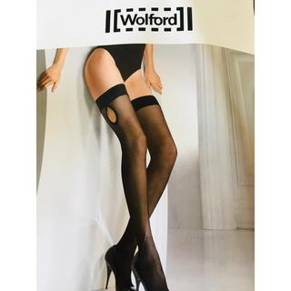 ウォルフォード(Wolford)のWolford ウォルフォード シリコン付きガーターストッキング 新品(タイツ/ストッキング)