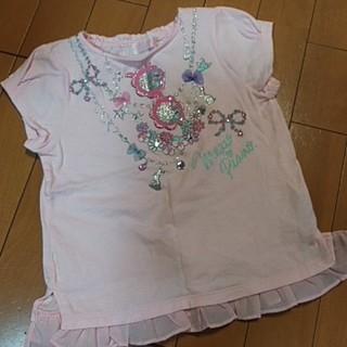 mezzo piano - メゾピアノ ネックレスモチーフシャツ サイズ120