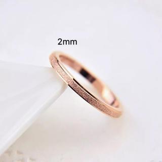 キラキラステンレスリング シンプル ピンキーリング ピンクゴールド(リング(指輪))