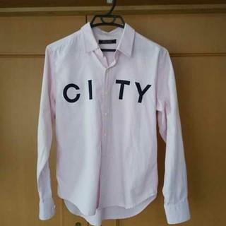 リクエスト REQUEST メンズシャツ ピンク サイズ2 M 長袖