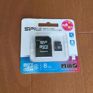 シリコンパワー Class4 micro SD カード 8GB(PC周辺機器)
